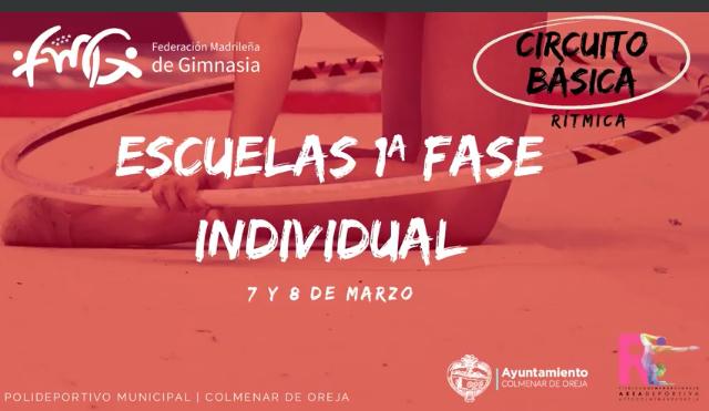 1ª fase individual escuelas Federación Madrileña de Gimnasia